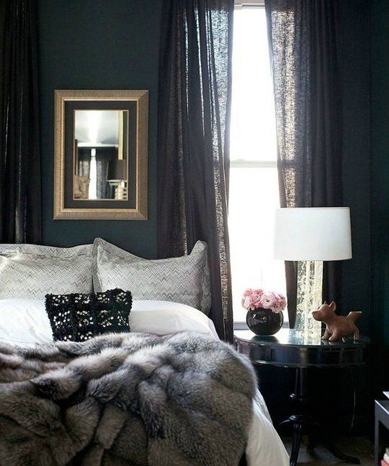 Dark Bedroom Paint Color Fur Throw Blanket Moody Bedroom Shadow - Benjamin Moore's 2017 Color of the Year