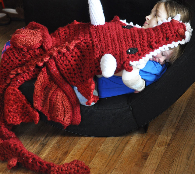 Crochet Dragon Blanket