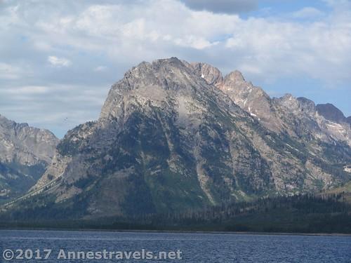 Traverse Peak across Jackson Lake as seen from the Lakeshore Trail, Grand Teton National Park, Wyoming