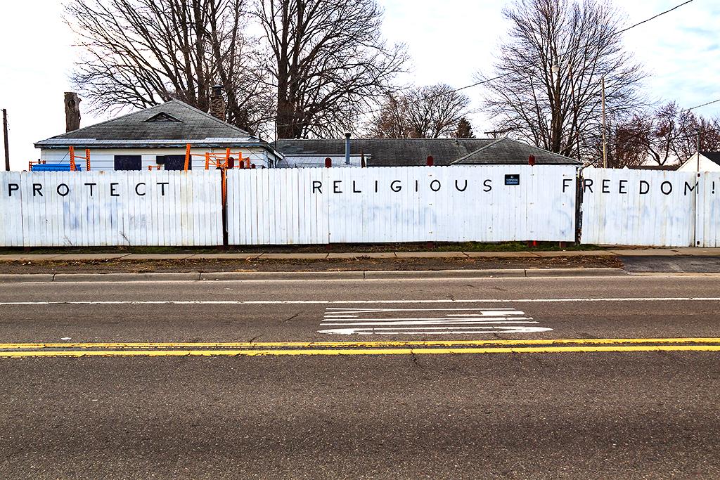 PROTECT RELIGIOUS FREEDOM house--Livonia 2