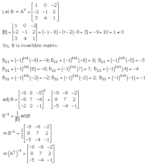 RD Sharma Class 12 Solutions Chapter 7 Adjoint and Inverse of Matrix Ex 7.1 Q 37