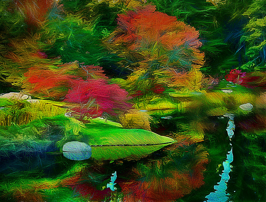 Garden Of Eden Reflection Original Photo Taken On Mount D Flickr