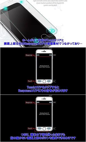 iPhoneに戻るボタンを追加する保護ガラス
