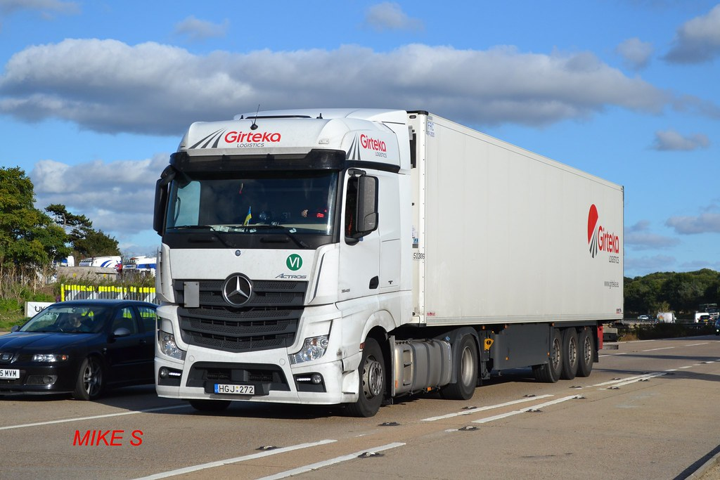 Mercedes Benz Actros MP4 Girteka Logistics reg HGJ 272