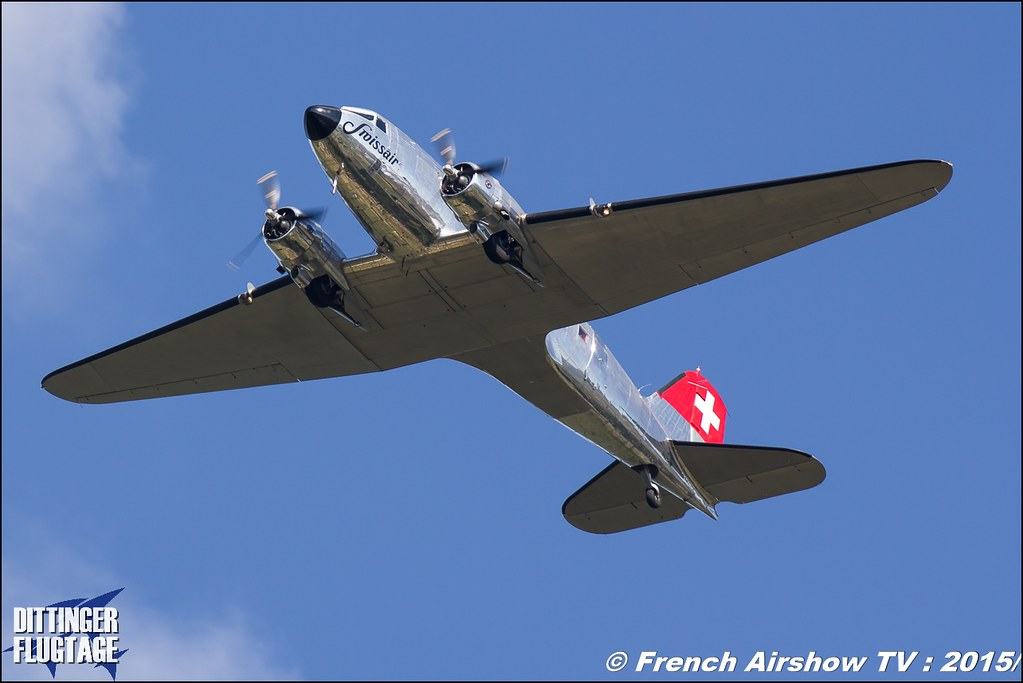 DC-3 Swissair HB-ISC & Lockheed L-12 Electra Junior , Dittinger Flugtage 2015 , Internationale Dittinger Flugtage, Meeting Aerien 2015