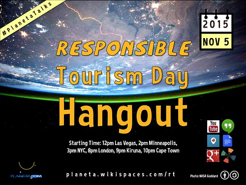 November 5: Responsible Tourism Day Hangout 12pm Vegas/8pm London | by planeta