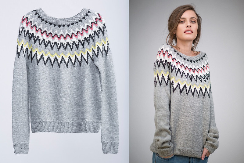 Sweater knitting pattern by Sandnes Yarn