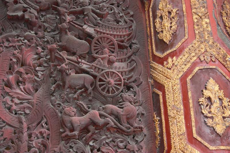 Резьба по дереву Мьянма