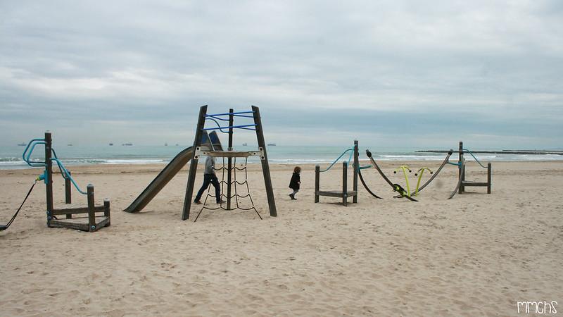 toboganes en la playa