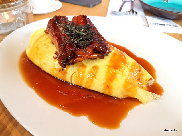 Eel Omurice with Teriyaki Sauce
