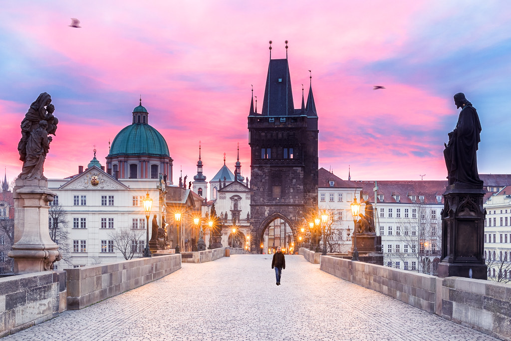 Karluv Most In Prague At Dawn Good Evening From Prague
