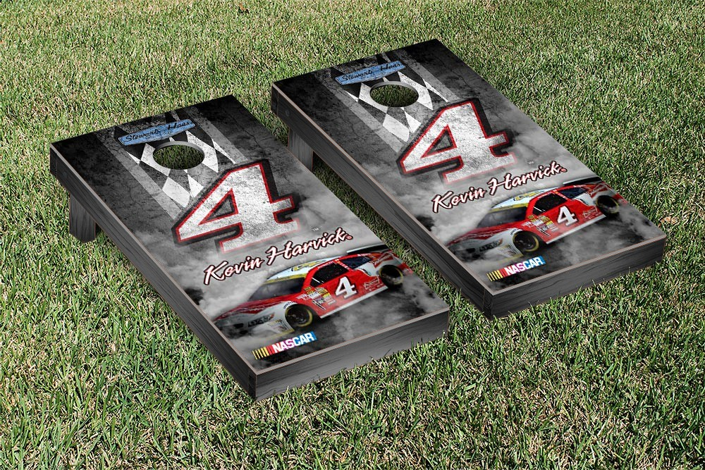 KEVIN HARVICK #4 CORNHOLE GAME SET PIT ROW RED VERSION