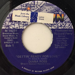 DIANA ROSS:GETTIN' READY FOR LOVE(LABEL SIDE-A)