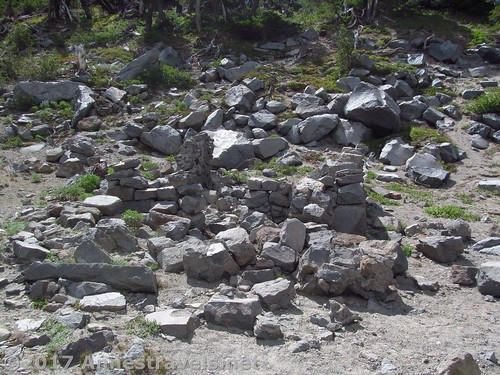 Remains of the CCC Warming Hut just below Gnarl Ridge in Mt. Hood National Forest, Oregon