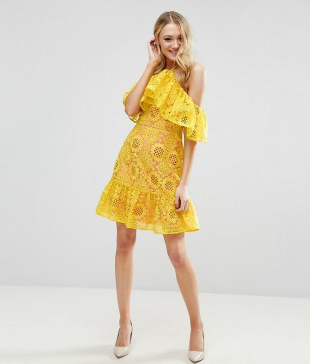 vestido amarillo encaje