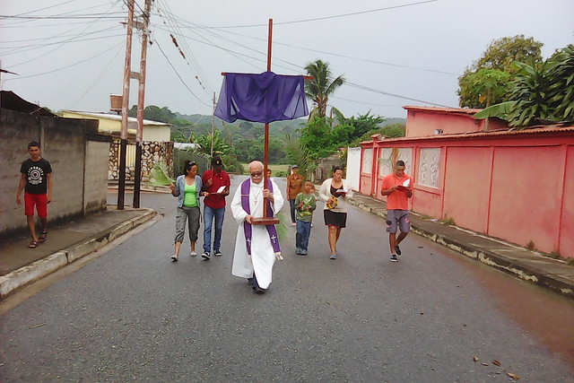 Palm Sunday procession.