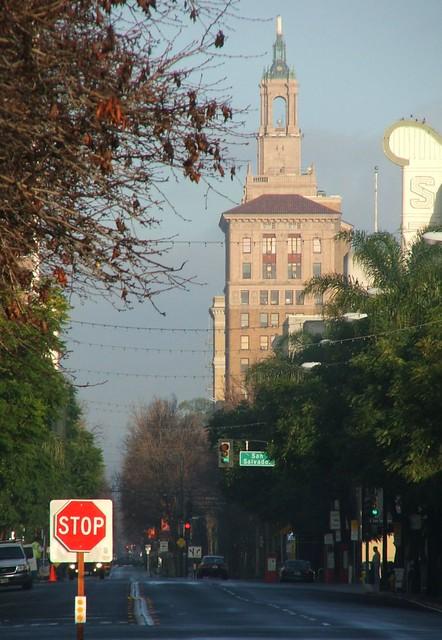 Bank of America building above SoFA Downtown San Jose