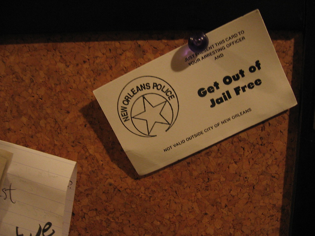 Get out of jail free card new orleans police issue flickr get out of jail free card new orleans police issue by mr kimberly reheart Images