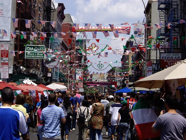 Little Italy World Cup Final Nyc Little Italy Is A