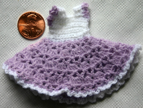 Miniature Crochet Sundress | This dress is made from a patte… | Flickr