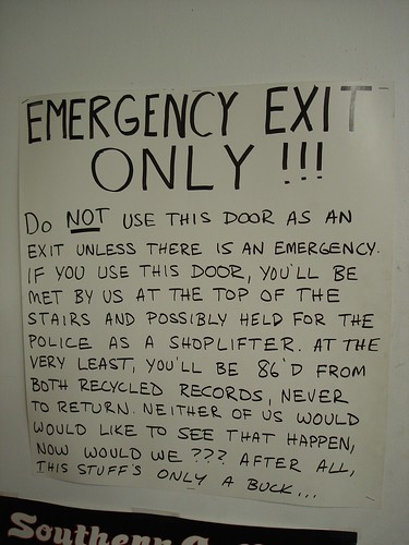 Emergency Exit Only !!! | by Travelin' Librarian