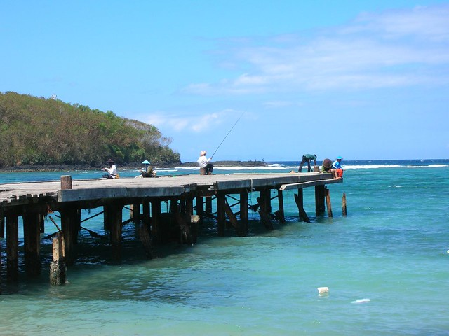 fishing pier near bangsal harbor bali it was amazing
