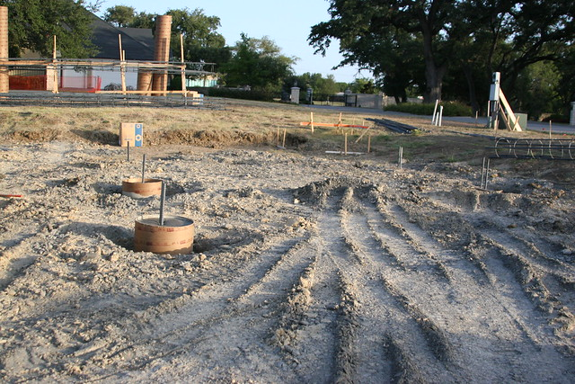 Fish pond construction flickr photo sharing for Garden pond construction