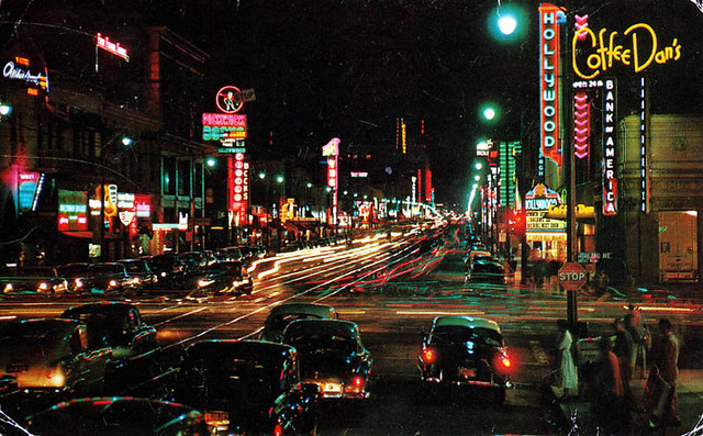 hollywood boulevard los angeles california c 1950s scott flickr