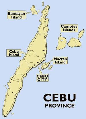 cebu map the map of cebu province showing cebu mainland an Flickr