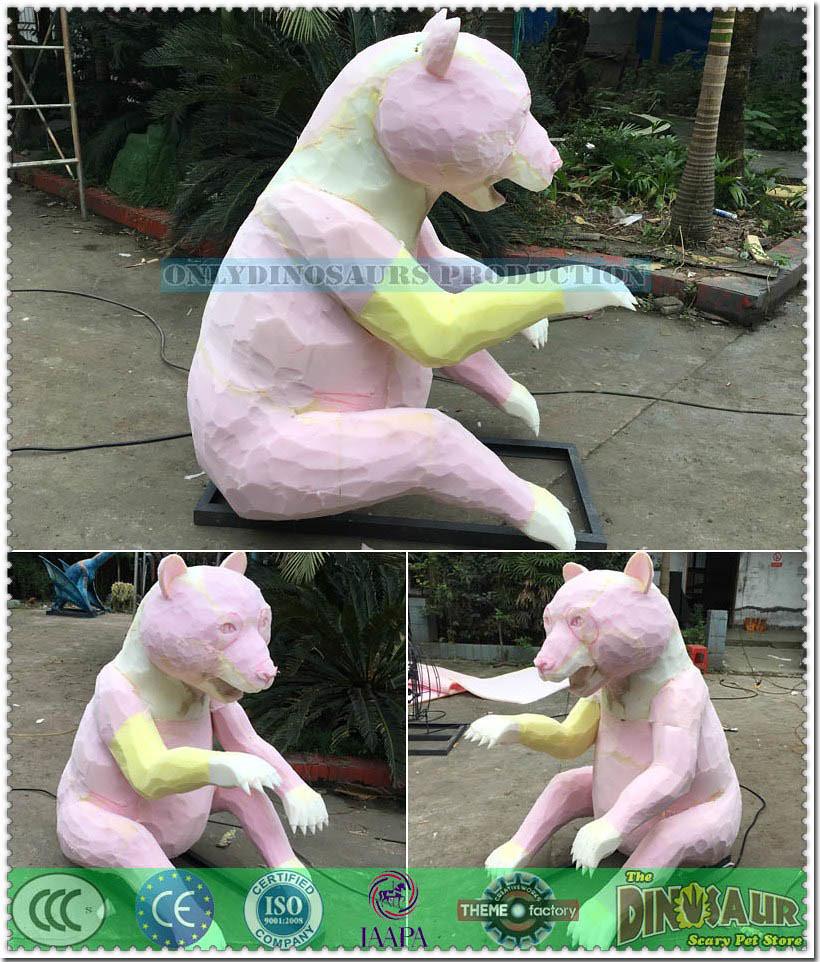 Panda Model Sculpture Work