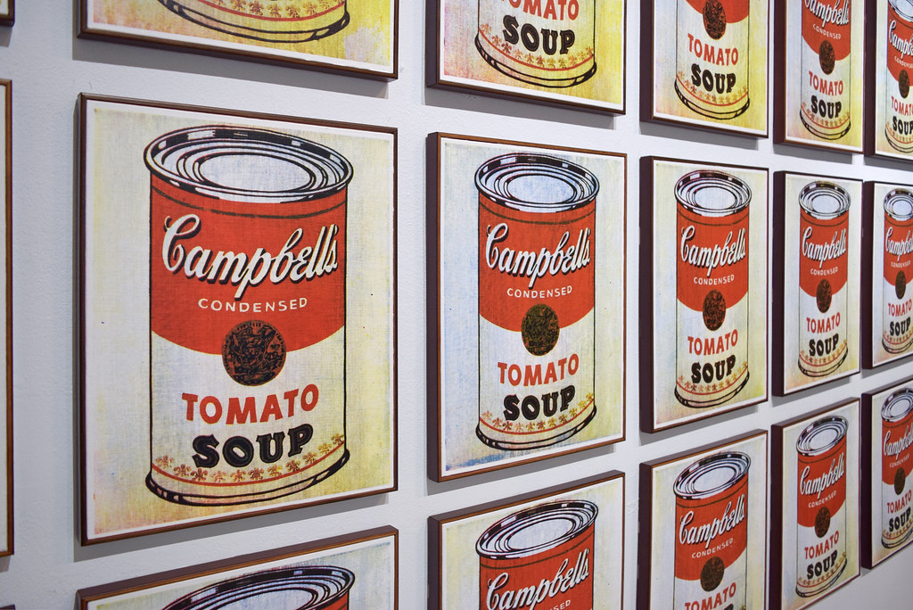 an analysis of andy warhols 32 campbell soup cans Available for sale from the skateroom, andy warhol, 32 campbell's soup , 7-ply canadian maple, 31 × 8 in.