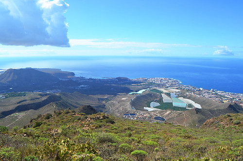 Volcanic crater above Los Cristianos, Tenerife