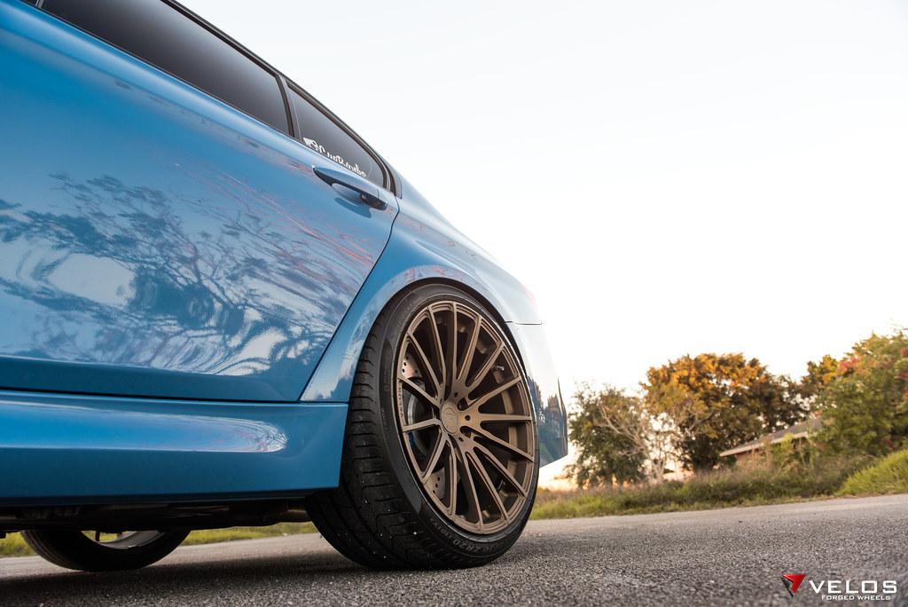 Bmw F80 M3 Yas Marina Blue Velos S15 Forged Wheels