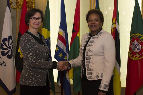 Secretária Executiva recebe Embaixadora da Hungria em Portugal