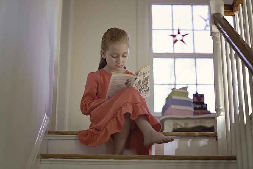 Abigail reading