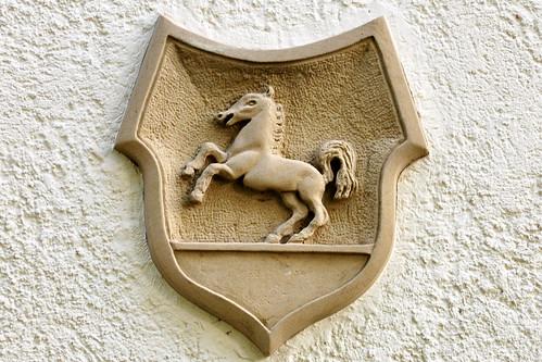Wasserschloss Bad Rappenau Eberhard von Gemmingen Fassade Tür Fenster Portal Gemarkungssteine Inschriften Figuren Foto Brigitte Stolle 2015