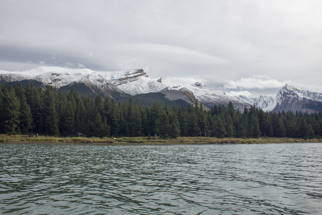 Maligne lake from a kayak