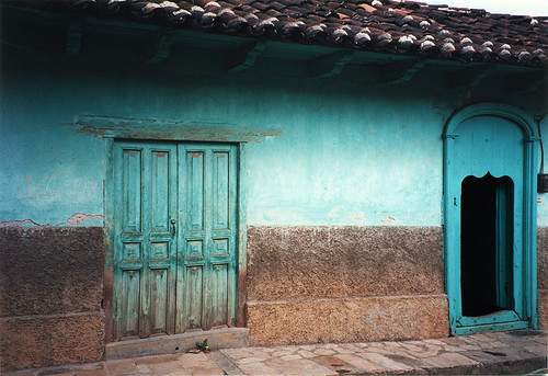 Turquoise house in Guatemala