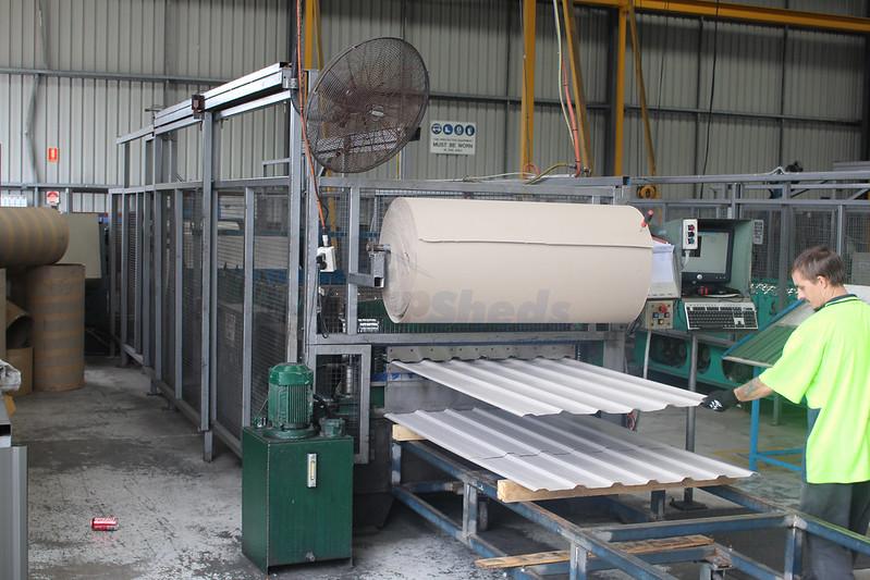 Spanbilt factory- making sheds