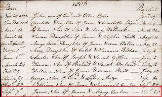 James C baptism 1806 Meld BT