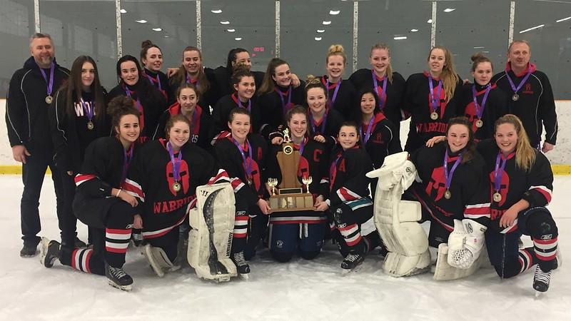 2016-17 Division-I Girls Hockey Champions: Waterdown Warriors