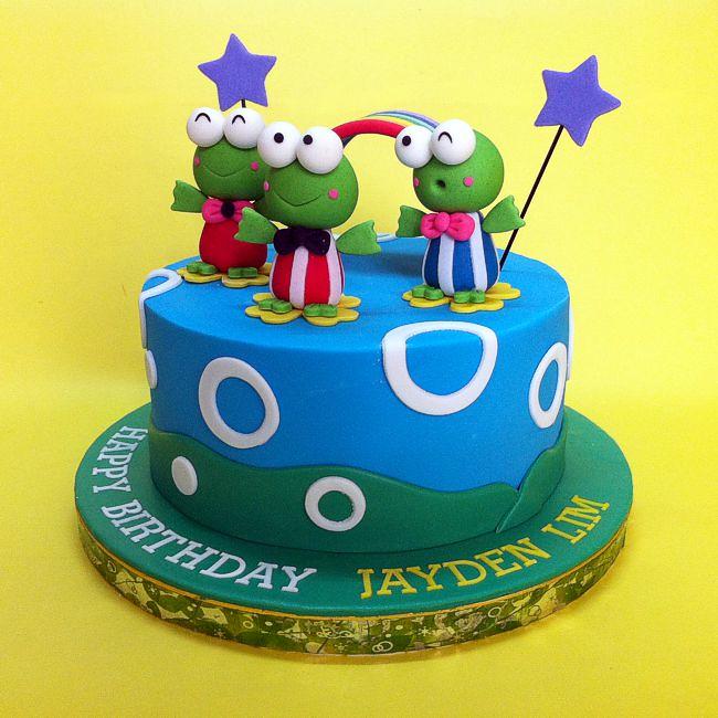 Keroppi 3d Birthday Cake Handcraft Sweet Fondant 3d Sanrio Flickr
