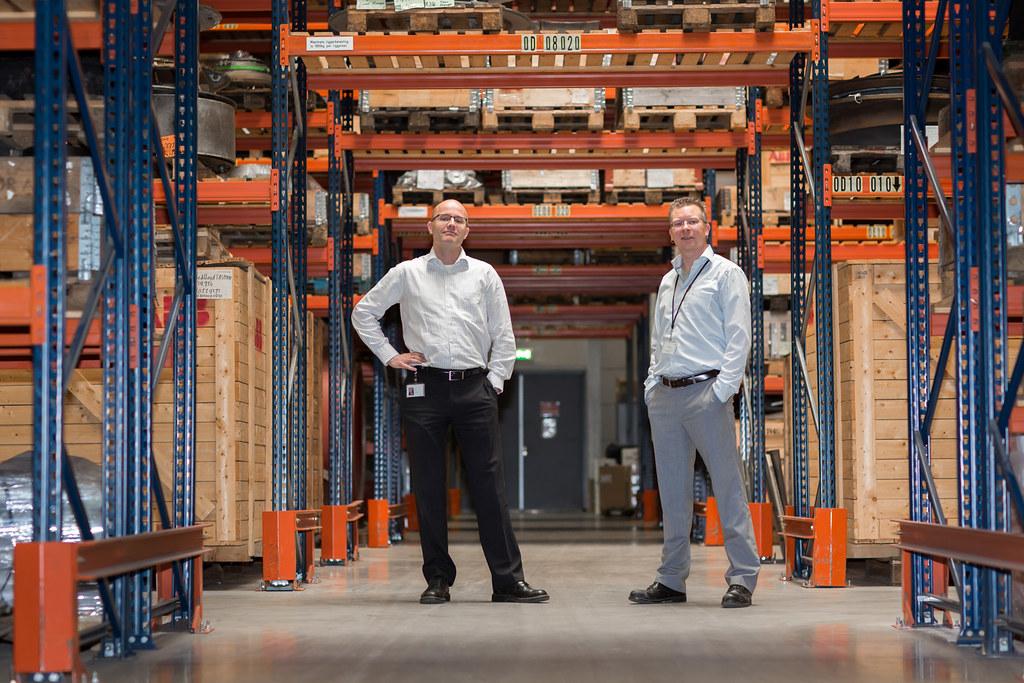André Elburge en Marcel Knops, ABB Warehouse Management Waalhaven