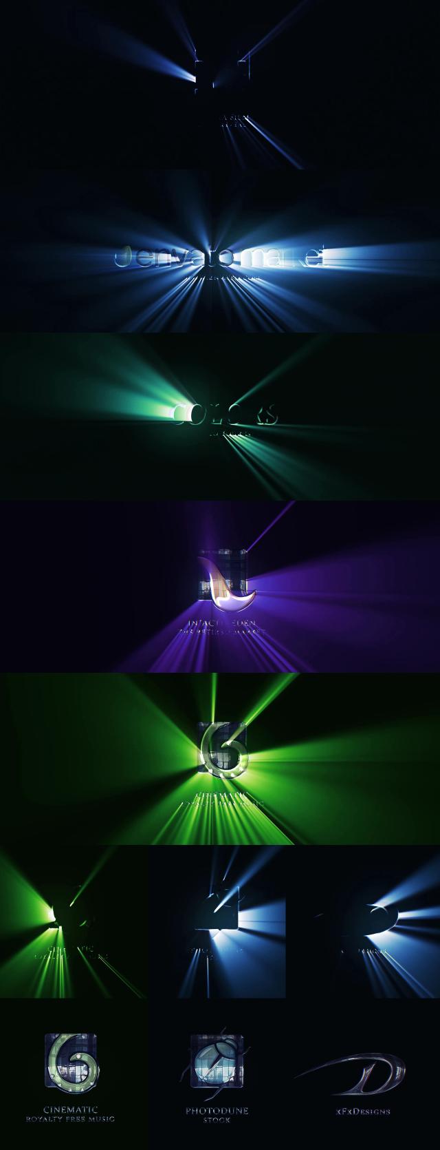 Cinematic Light Rays Logo Reveal - 1