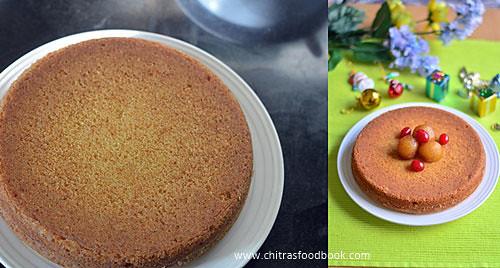 Cake using gulab jamun mix