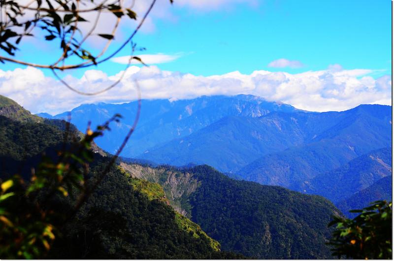 幾阿佐名山山頂東北眺玉山群峰