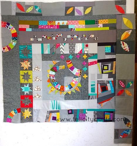 2015 Round Robin quilt top