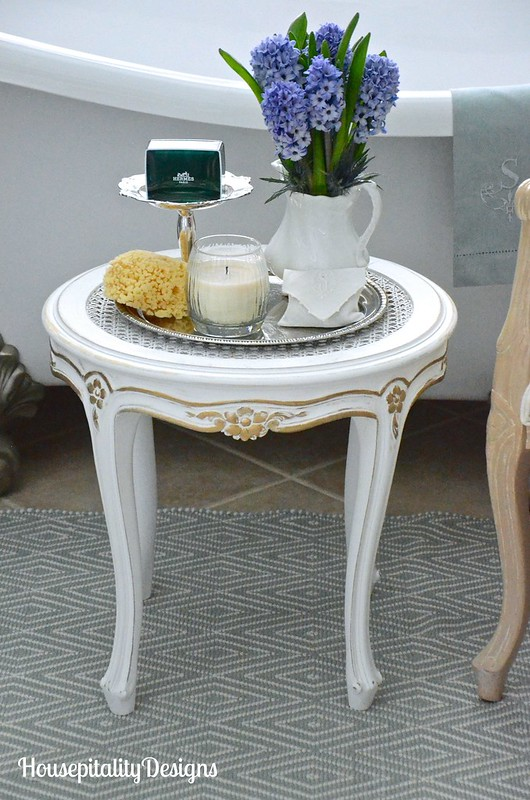 French Country accent table-Master Bathroom-Housepitality Designs