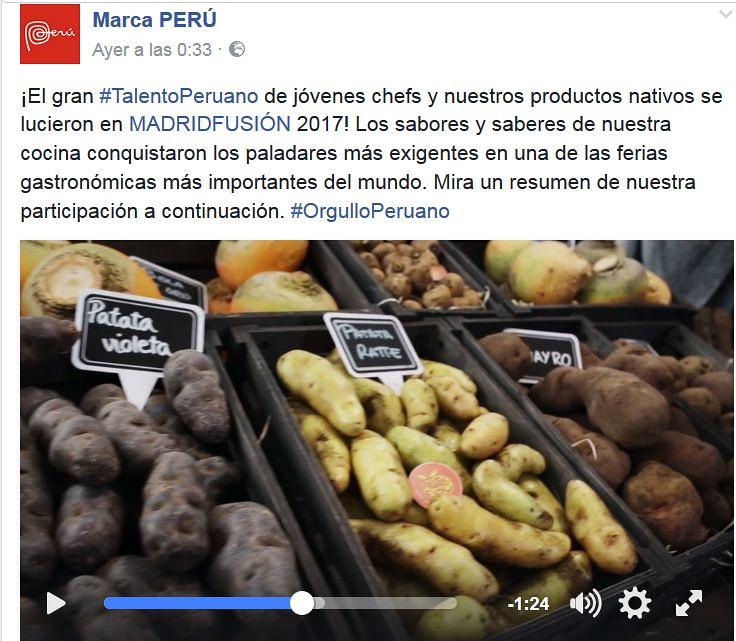"""Marca Perú: """"... y nuestros productos nativos... patata violeta, patata ratte"""""""