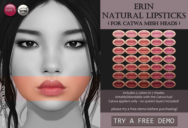 Catwa Erin Natural Lipsticks (Skin Fair)